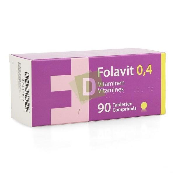 Folavit 0.4 mg x 90 Tablets