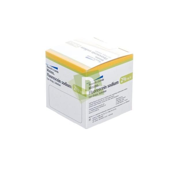 Minims Fluorescein Sodium 2% x 20 ( 0,5 ml ) Flacons