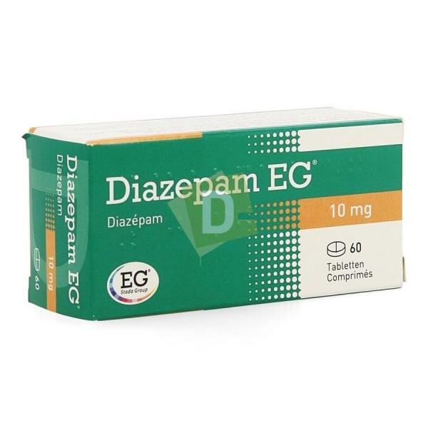 Diazepam EG 10 mg x 60 scored tablets