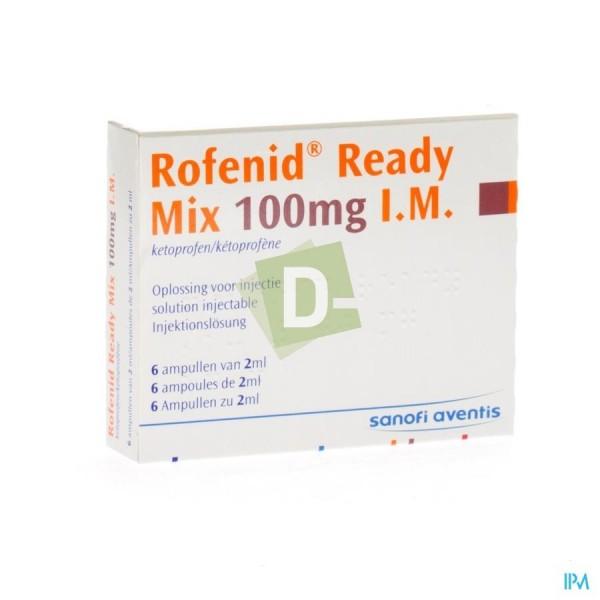 Rofenid Ready Mix 100 mg I.M x 6 Ampoules de 2 ml
