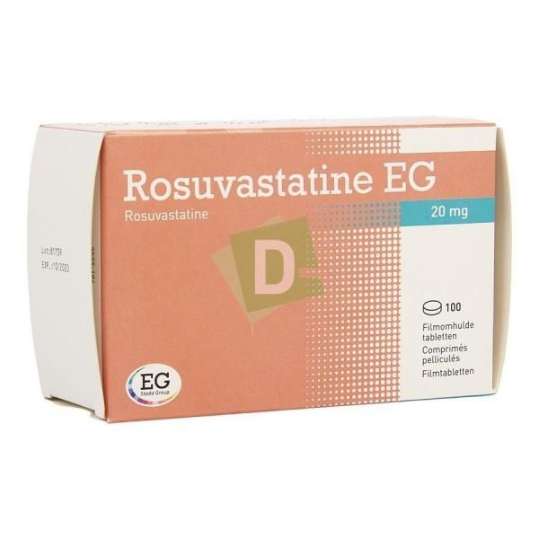 Rosuvastatine EG 20 mg x 100 Comprimés pelliculés