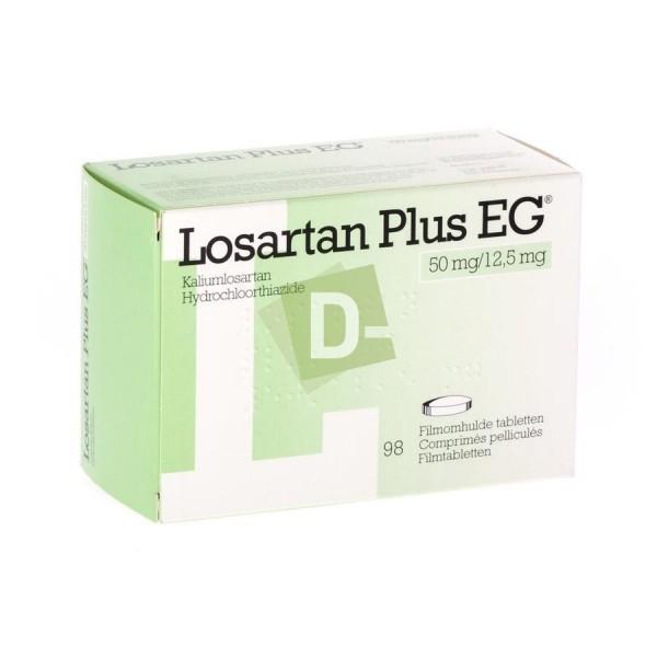 Losartan Plus EG 50 mg / 12,5 mg x 98 Comprimés pelliculés