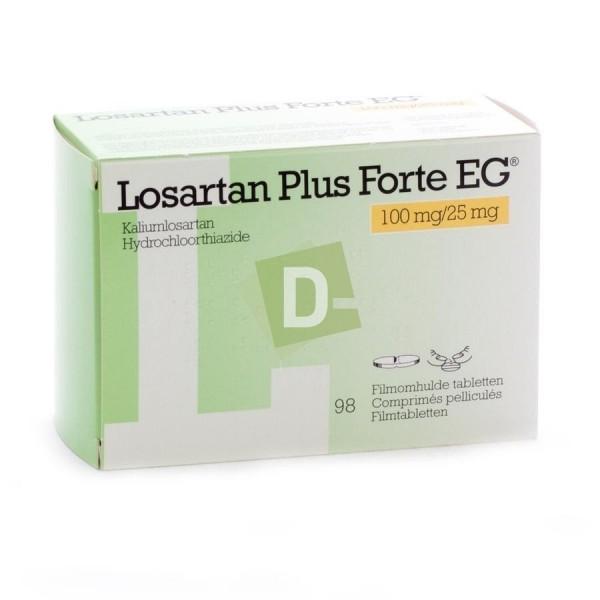 Losartan Plus EG 100 mg / 25 mg x 98 Comprimés pelliculés