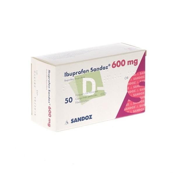 Ibuprofen Sandoz 600 mg x 50 Coated Tablets