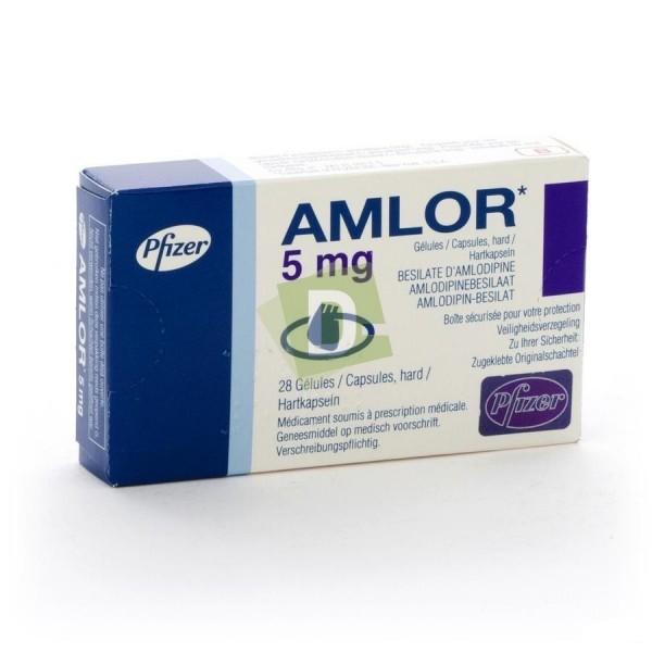 Amlor 5 mg x 28 Gélules : Traitement contre l'hypertension