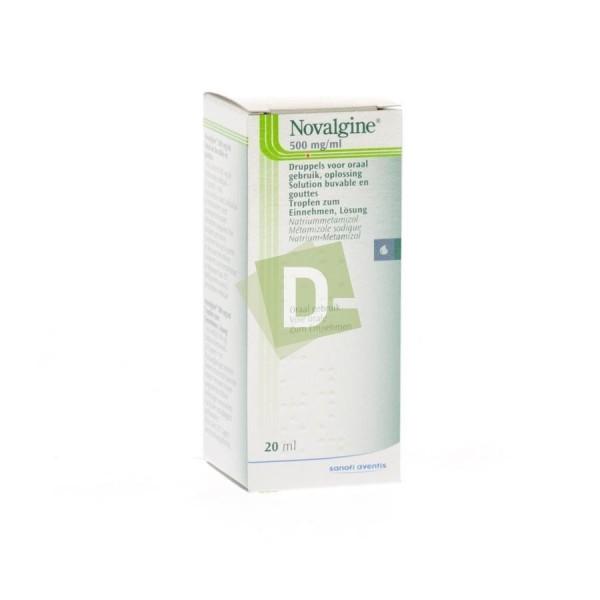 Novalgine 500 mg gouttes 20 ml