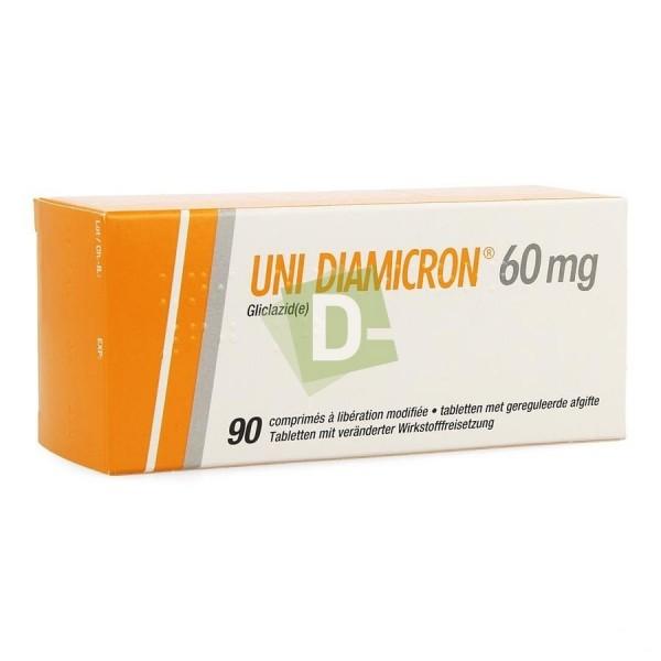 Uni Diamicron 60 mg x 90 Modified Release Tablets