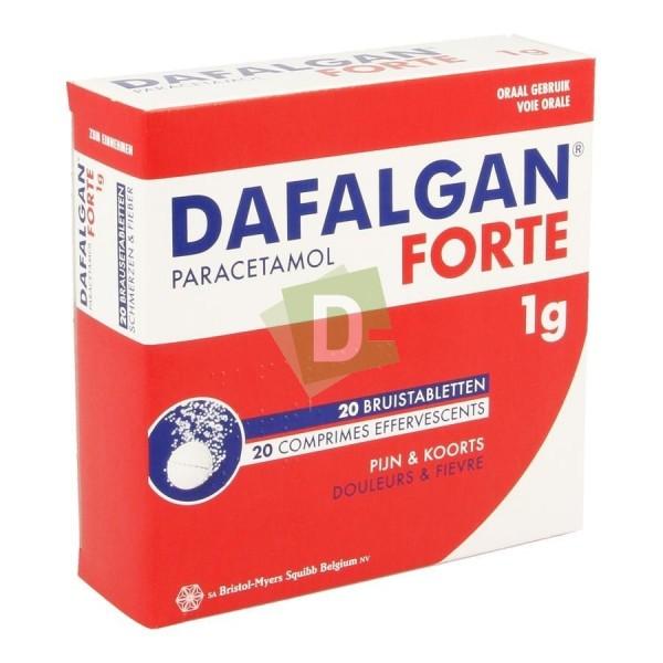 Dafalgan Forte ( Paracétamol ) 1000 mg x 20 Comprimés Efferv : Contre la douleur et la fièvre