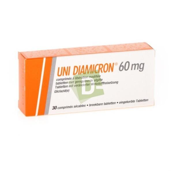 Uni Diamicron 60 mg x 30 Modified Release Tablets