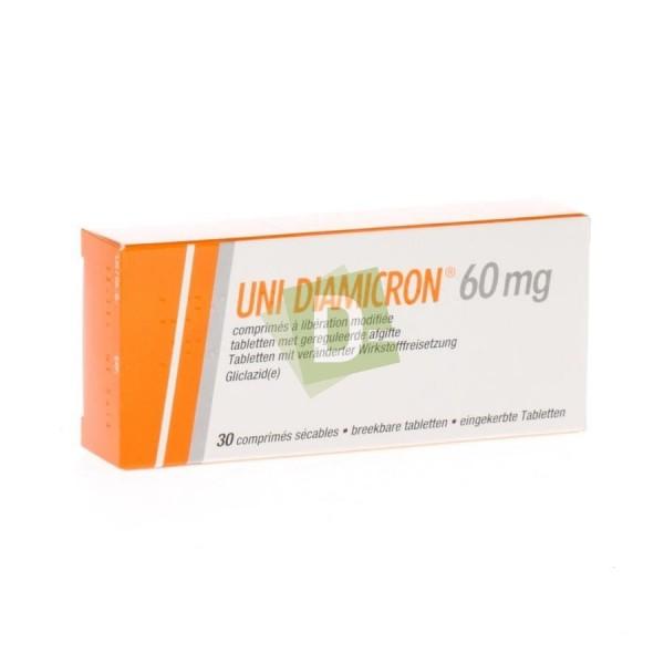 Uni Diamicron 60 mg x 30 Comprimés à libération modifiée