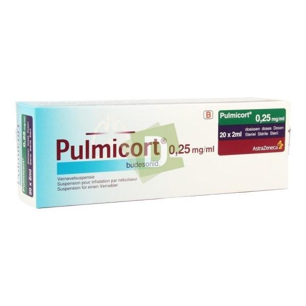 Pulmicort Suspension pour nébulisateur 0.25 mg/ml 20 x 2 ml