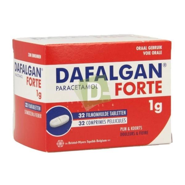 Dafalgan Forte (Paracetamol) 1000 mg x 32 Breakable tablets: Against pain and fever