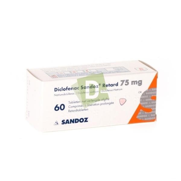 Diclofenac Sandoz Retard 75 mg x 60 Comprimés à libération prolongée