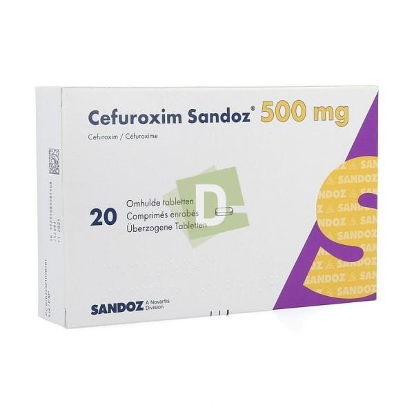 Cefuroxim Sandoz 500 mg x 20 Comprimés pelliculés