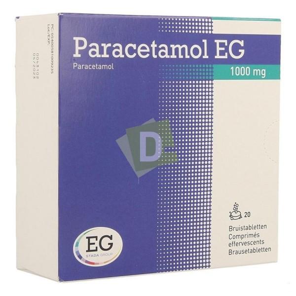 Paracétamol EG 1000 mg x 20 Comprimés effervescents