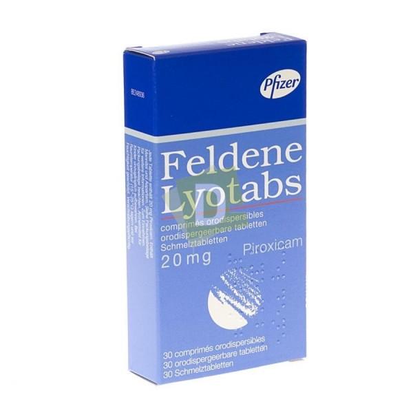 Feldene Lyotabs 20 mg x 30 Comprimés orodispersibles