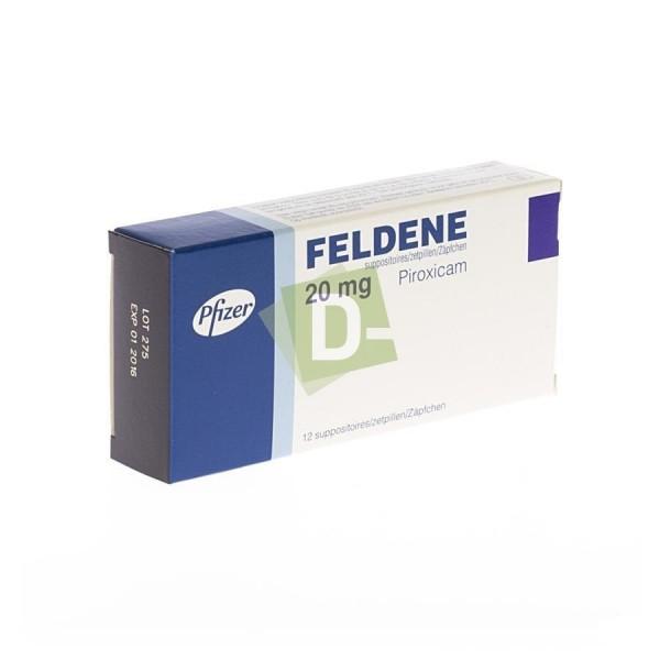 Feldene 20 mg x 12 Suppositoires