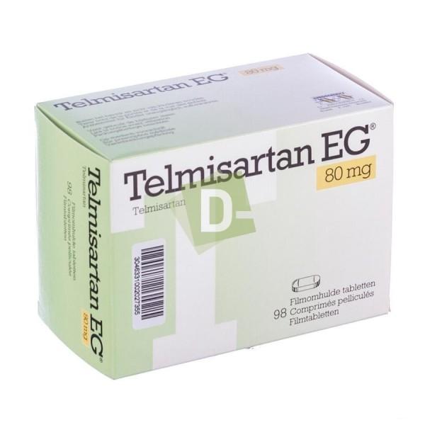 Telmisartan EG 80 mg x 98 Comprimés Pelliculés