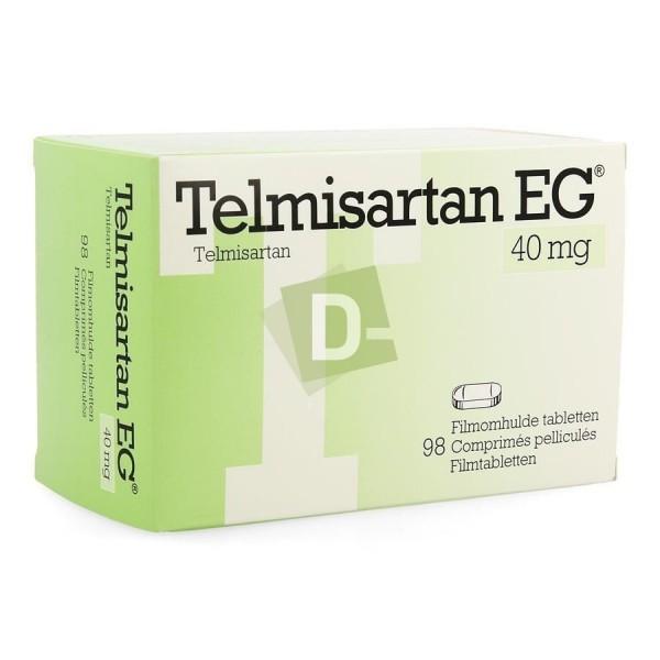Telmisartan EG 40 mg x 98 Comprimés Pelliculés