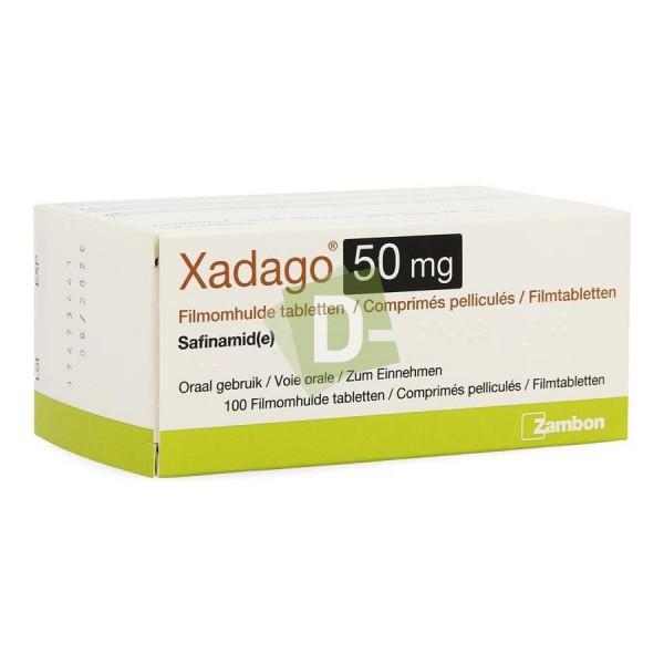 Xadago (Safinamide) 50 mg x 100 Film-coated tablets: Helps to treat parkinson's disease