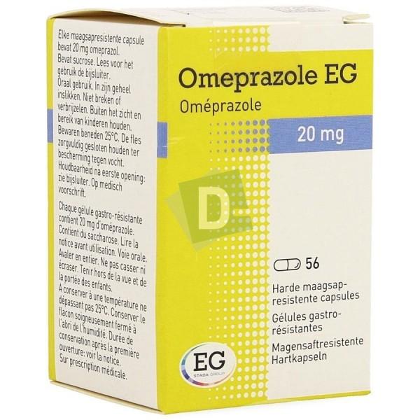 Oméprazole EG 20 mg x 56 Gélules gastro-résistantes