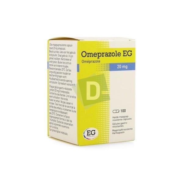 Oméprazole EG 20 mg x 100 Gélules gastro-résistantes