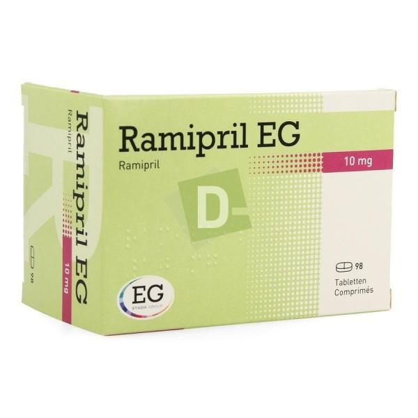 Ramipril EG 10 mg x 98 Comprimés