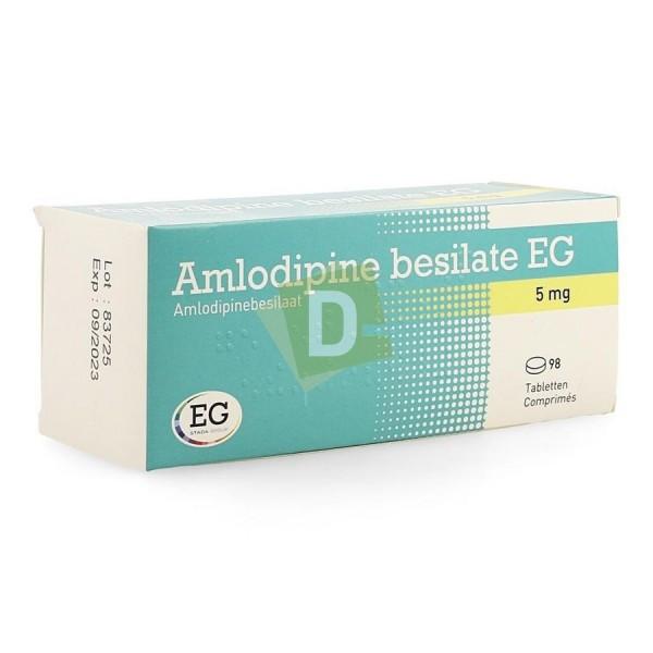 Amlodipine Bésilate EG 5 mg x 98 Comprimés