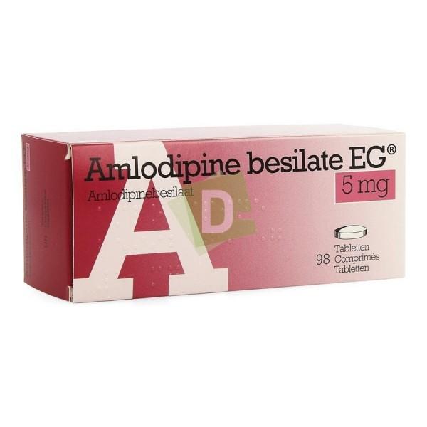 Amlodipine Besilate EG 5 mg x 98 Tablets