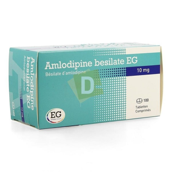 Amlodipine Bésilate EG 10 mg x 100 Comprimés : Traite l'Hypertension