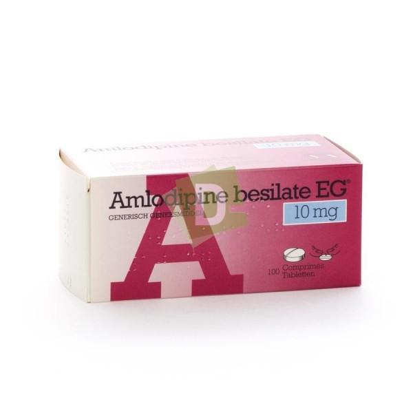 Amlodipine Besilate EG 10 mg x 100 Tablets: Treats Hypertension
