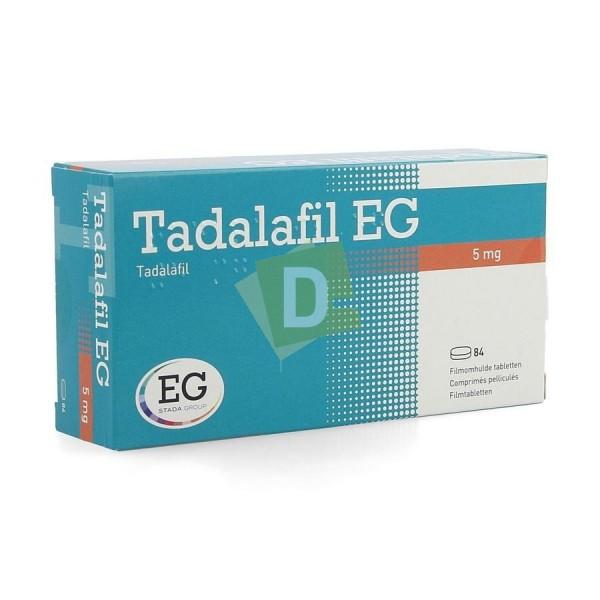 Tadalafil EG 5 mg x 84 Comprimés pelliculés
