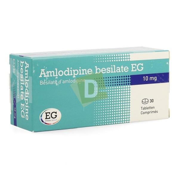 Amlodipine Bésilate EG 10 mg x 30 Comprimés : Traite l'Hypertension