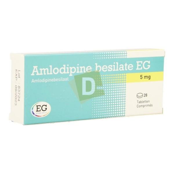 Amlodipine Bésilate EG 5 mg x 28 Comprimés : Traite l'Hypertension