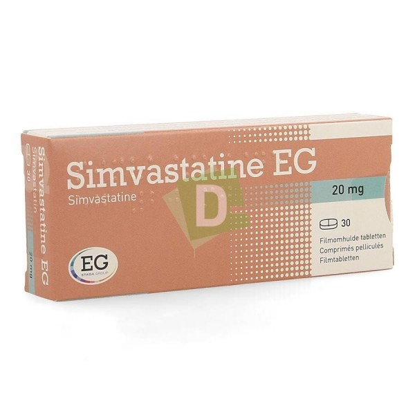 Simvastatin EG 20 mg x 30 Tablets: Treats cholesterol