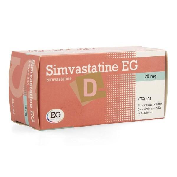 Simvastatin EG 20 mg x 100 Tablets: Treats cholesterol