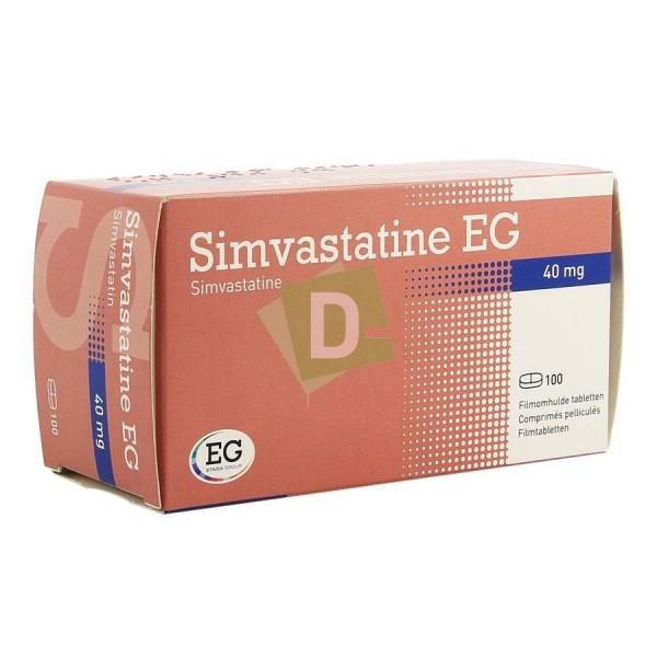 Simvastatine EG 40 mg x 100 Comprimés : Traite le cholestérol