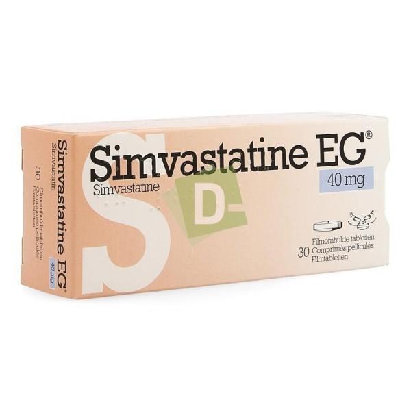 copy of Simvastatine EG 40 mg x 100 Comprimés : Traite le cholestérol
