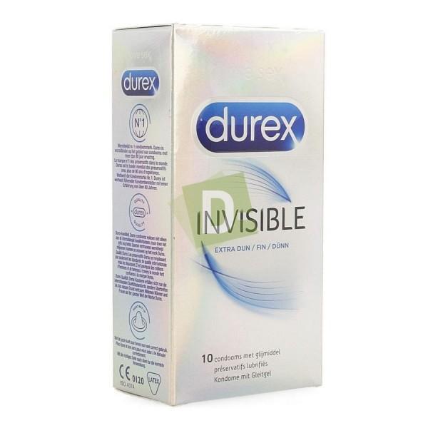 Durex Invisible Extra Fin 10 Préservatifs