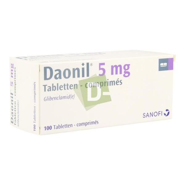Daonil 5 mg x 100 Comprimés