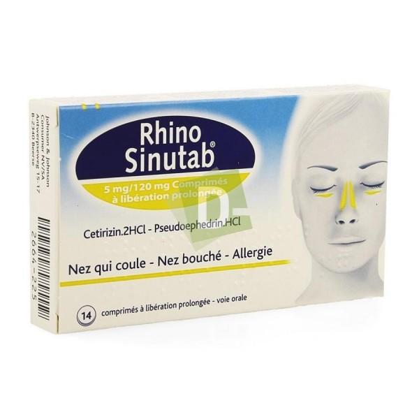 Rhinosinutab 120 mg / 5 mg x 14 Comprimés : Soulage le nez qui coule