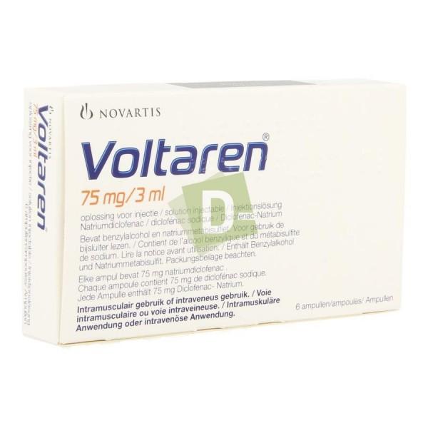 Voltaren 75 mg / 3 ml x 6 Ampoules : Anti-inflammatoires et analgésiques