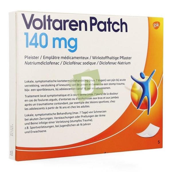 Voltaren 140 mg x 5 Patch : Anti-inflammatoires et analgésiques