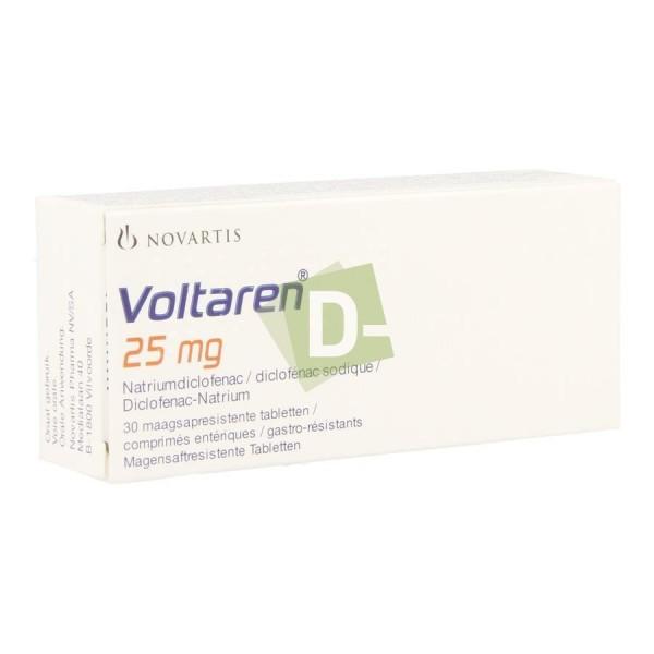 Voltaren 25 mg x 30 Tablets: Anti-inflammatory