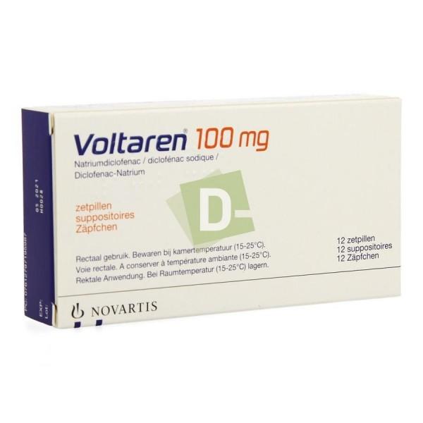 Voltaren 100 mg x 12 Suppositoires : Anti-inflammatoires et analgésiques