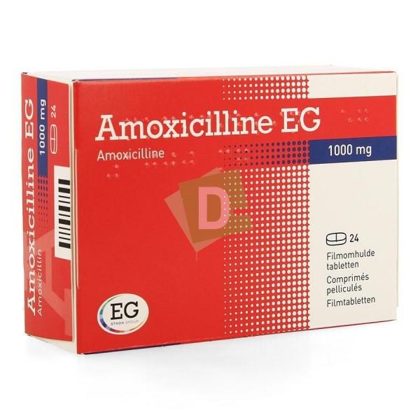 Amoxicilline EG 1000 mg x 24 Comprimés