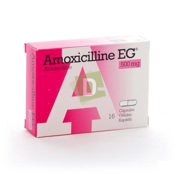 Amoxicilline EG 500 mg x 16 Capsules