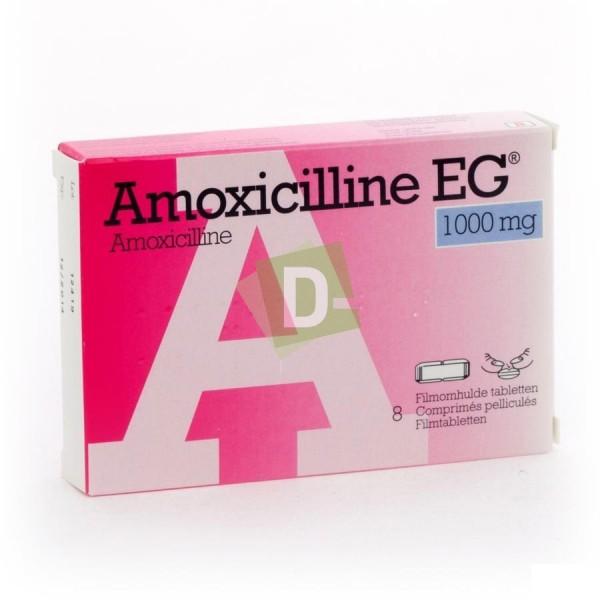 Amoxicillin EG 1000 mg x 8 scored tablets