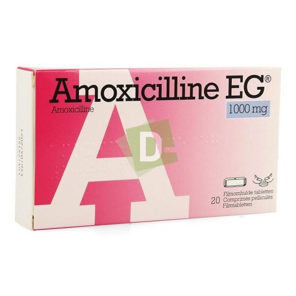 Amoxicilline EG 1000 mg x 20 Comprimés sécables