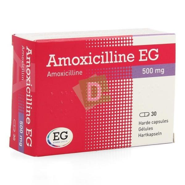 Amoxicilline EG 500 mg x 30 Gélules